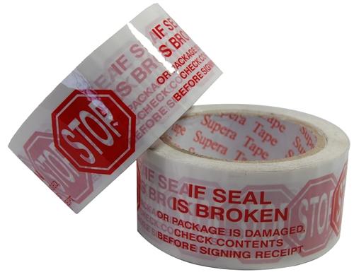 """Stop If Seal Is Broken"" - Hot Melt Adhesive"