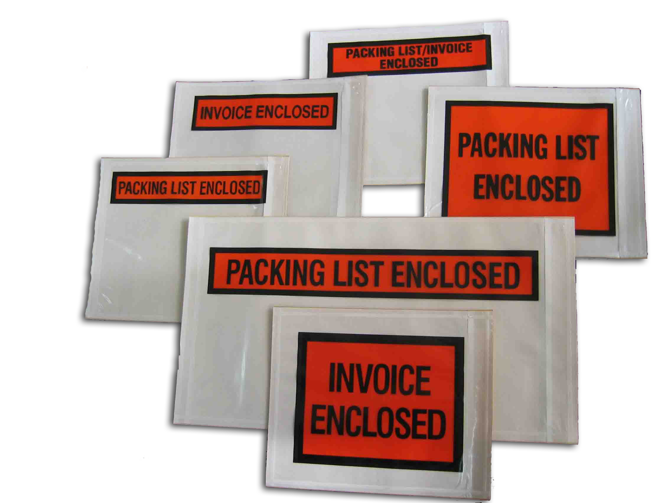 Shipping Room Supplies - Invoice enclosed pouches