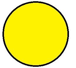 Fluorescent Blank Circular Labels